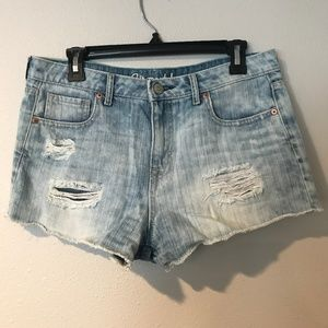 2/$20! Aeropostale 8 High Rise Distressed Shorts